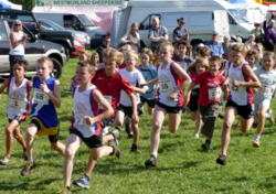start of junior fell race